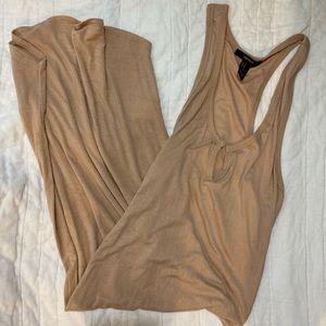 Mid calf nude dress